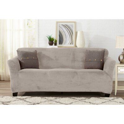 Pleasant Winston Porter Velvet Plush Form Fit Stretch Box Cushion Gmtry Best Dining Table And Chair Ideas Images Gmtryco