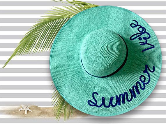 Summer Vibe Mint Green Straw Hat  0d72e21a77c