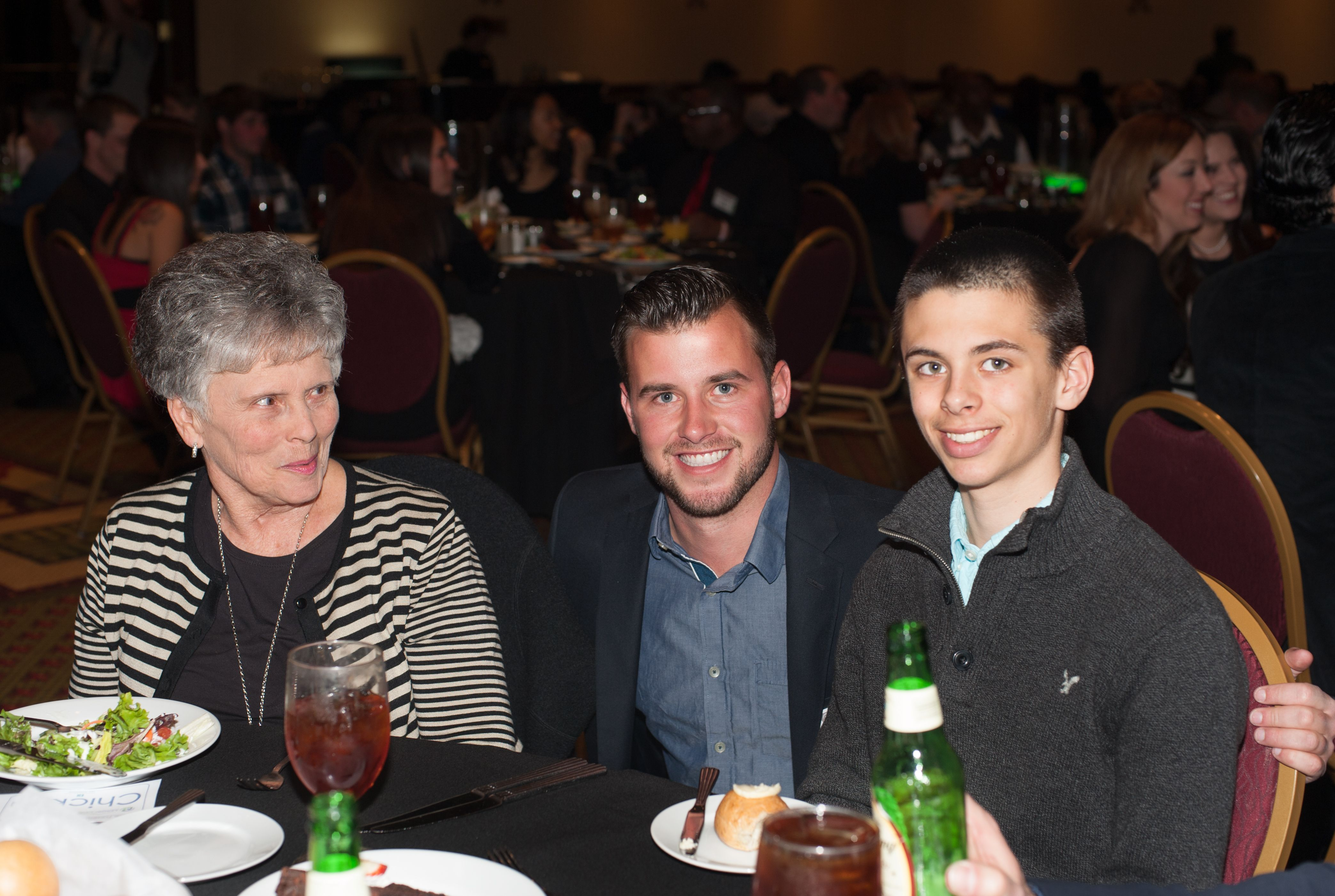 Mary Ann Minor, Zach Jones, PDR technician and Gavin Minor.