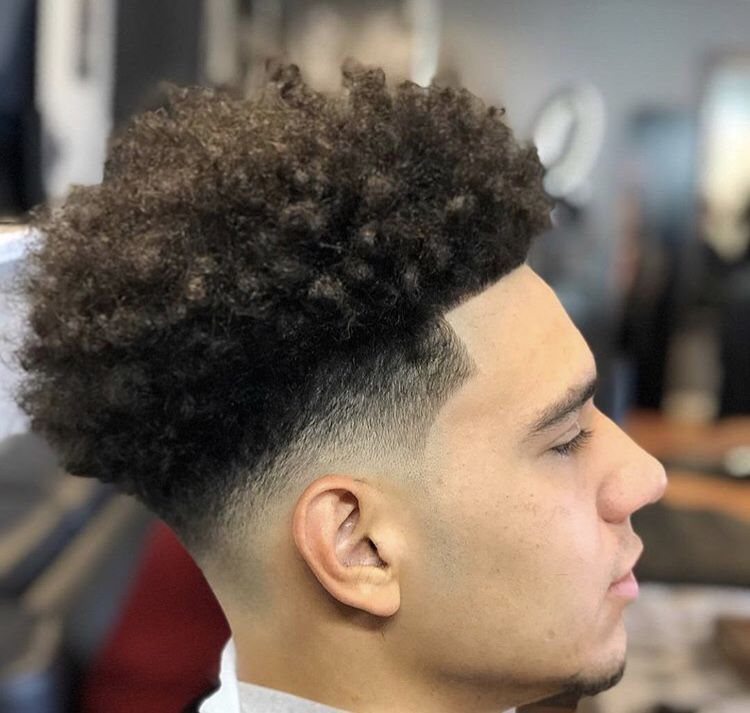 Pin By Mae On Haircuts In 2020 Faded Hair Taper Fade Curly Hair Afro Fade Haircut