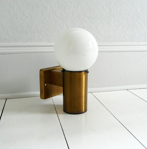 Modern Brass Globe Exterior Wall Sconce By Theuniongeneral On Etsy