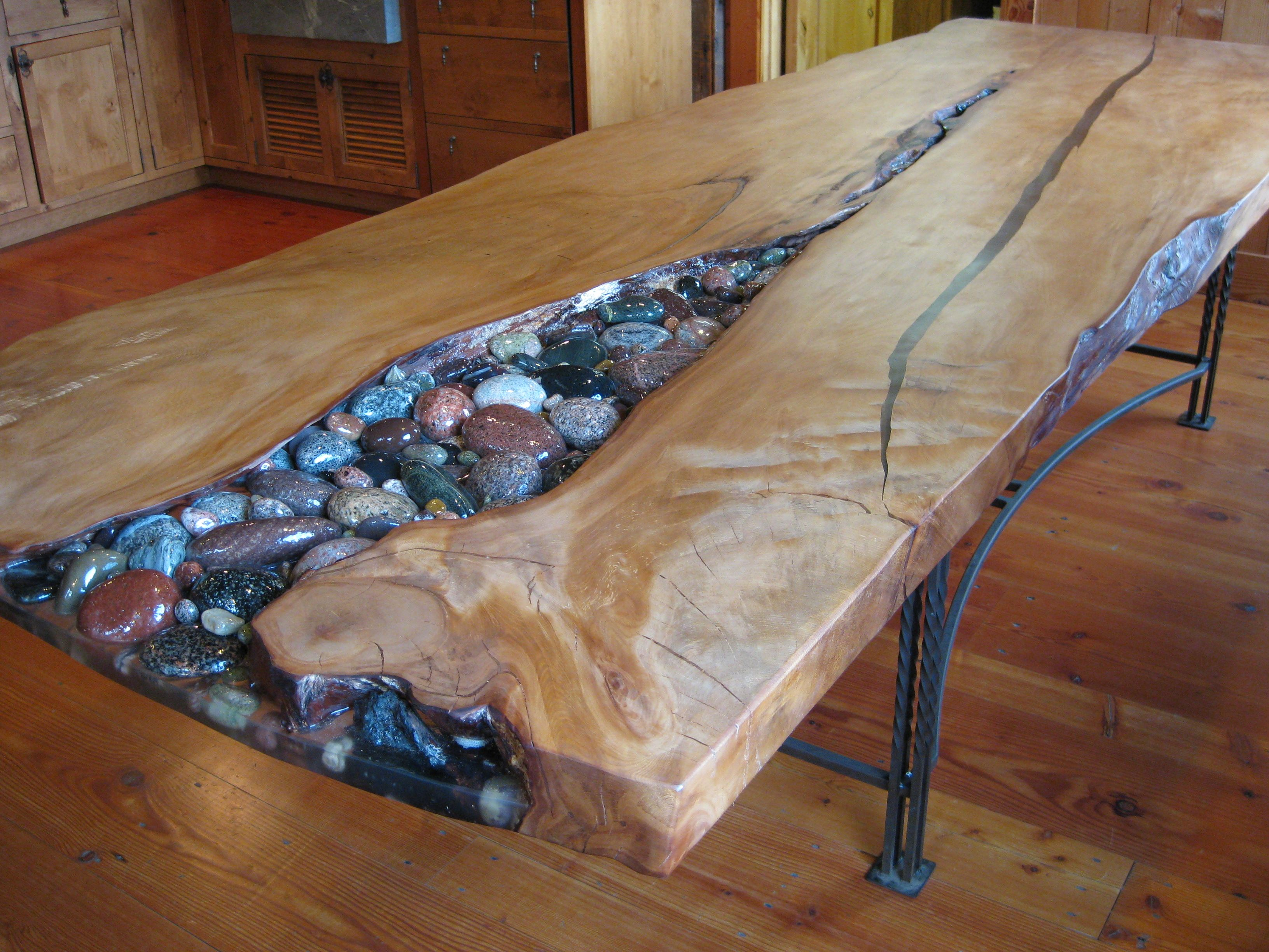 Kauri Table Cobbles Not Pebbles Woodworking In 2019