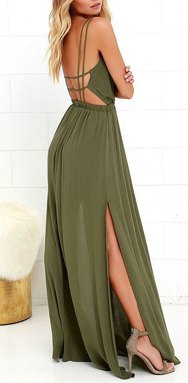 8509f82f6182 Lost in Paradise Olive Green Maxi Dress   d r e s s e s   Pinterest ...