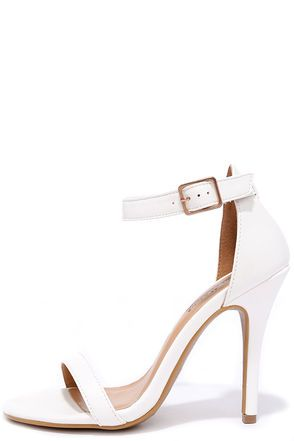 59b25fee2ccf Picturesque White Ankle Strap Heels at Lulus.com!