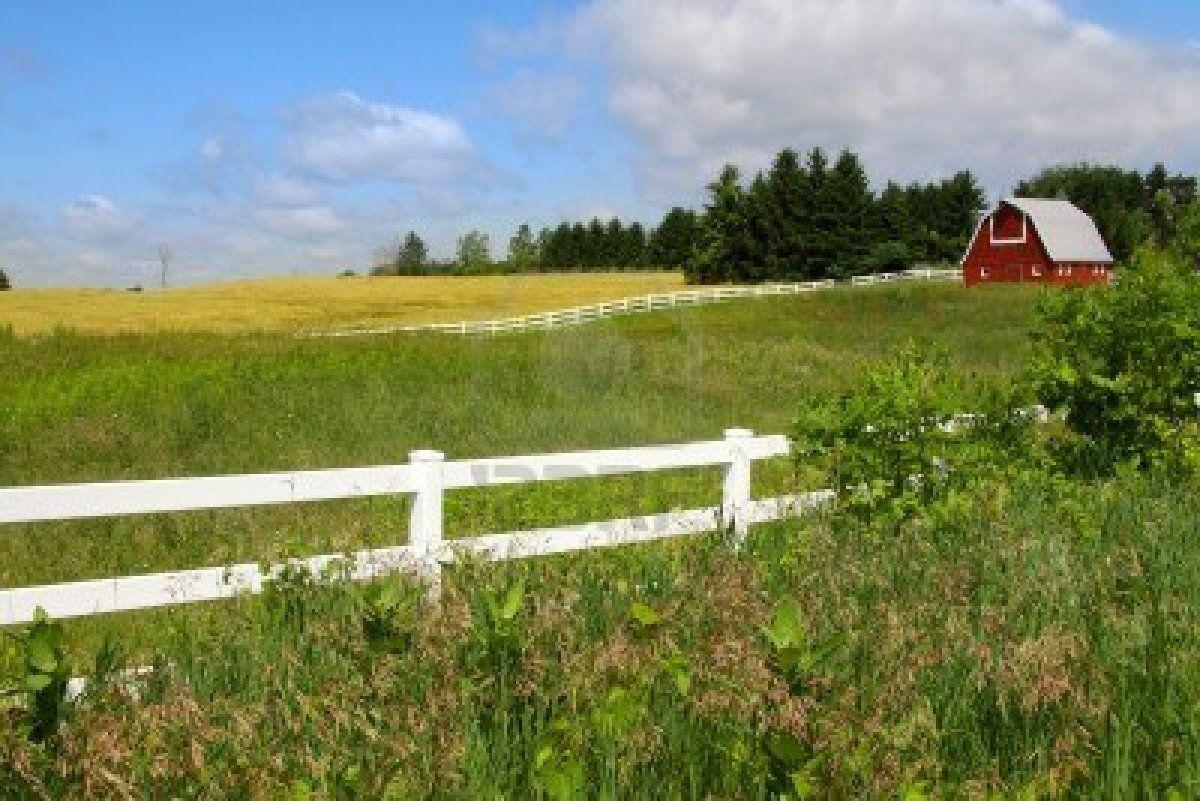 13367132 Scenic Farm Landscape With Barn (1200×