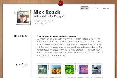 Resume And Portfolio Wordpress Theme For Online V Card Curriculum