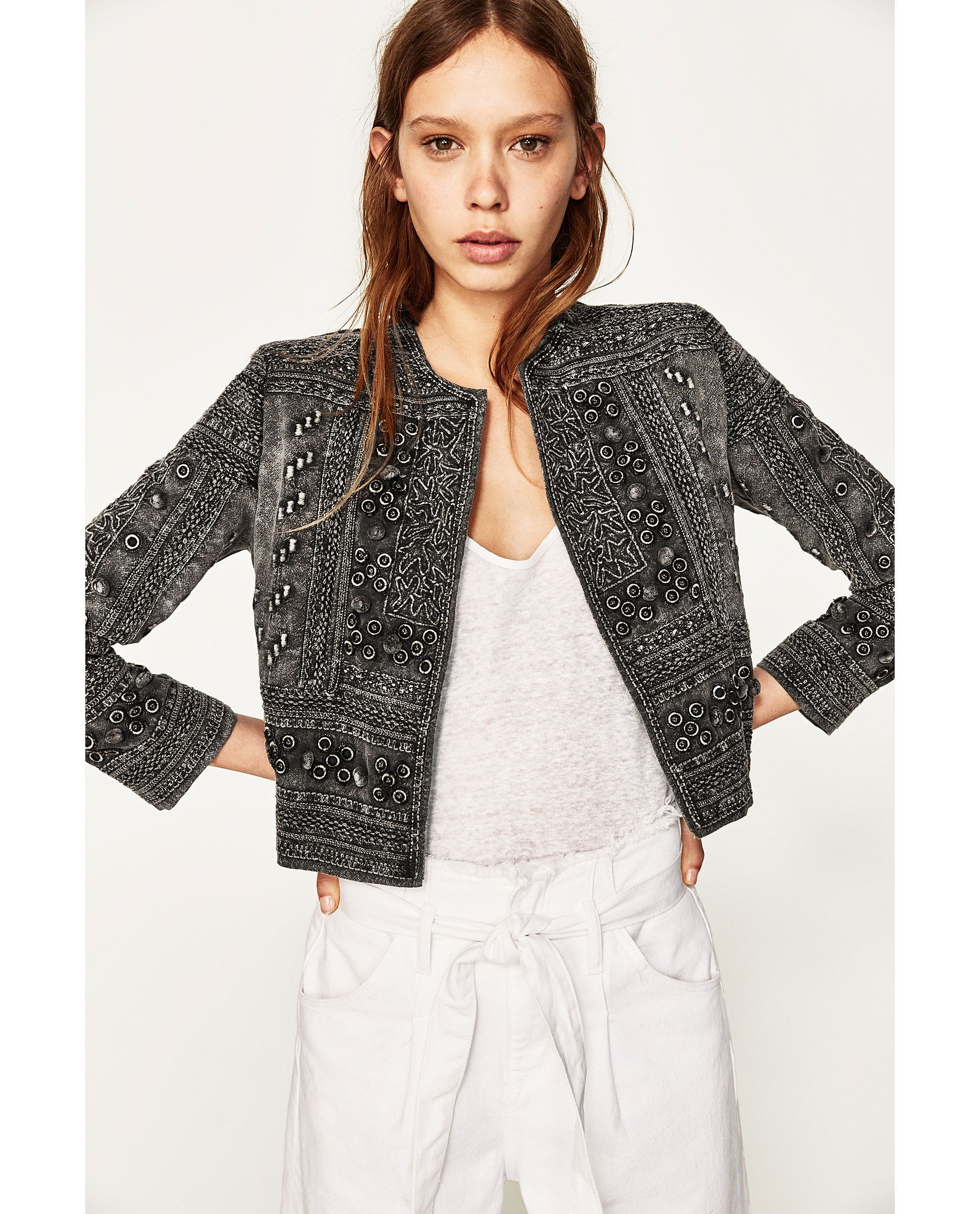 Image 2 of EMBROIDERED JACKET from Zara in 2020   Kleider ...