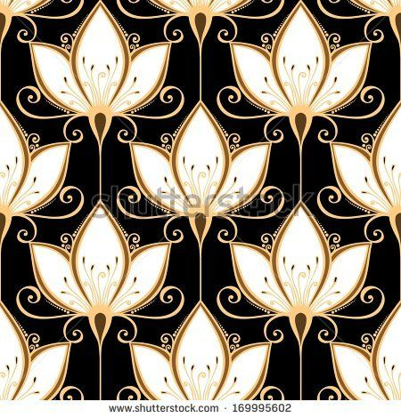 Seamless Ornate Floral Pattern Vector Floral Pattern Vector