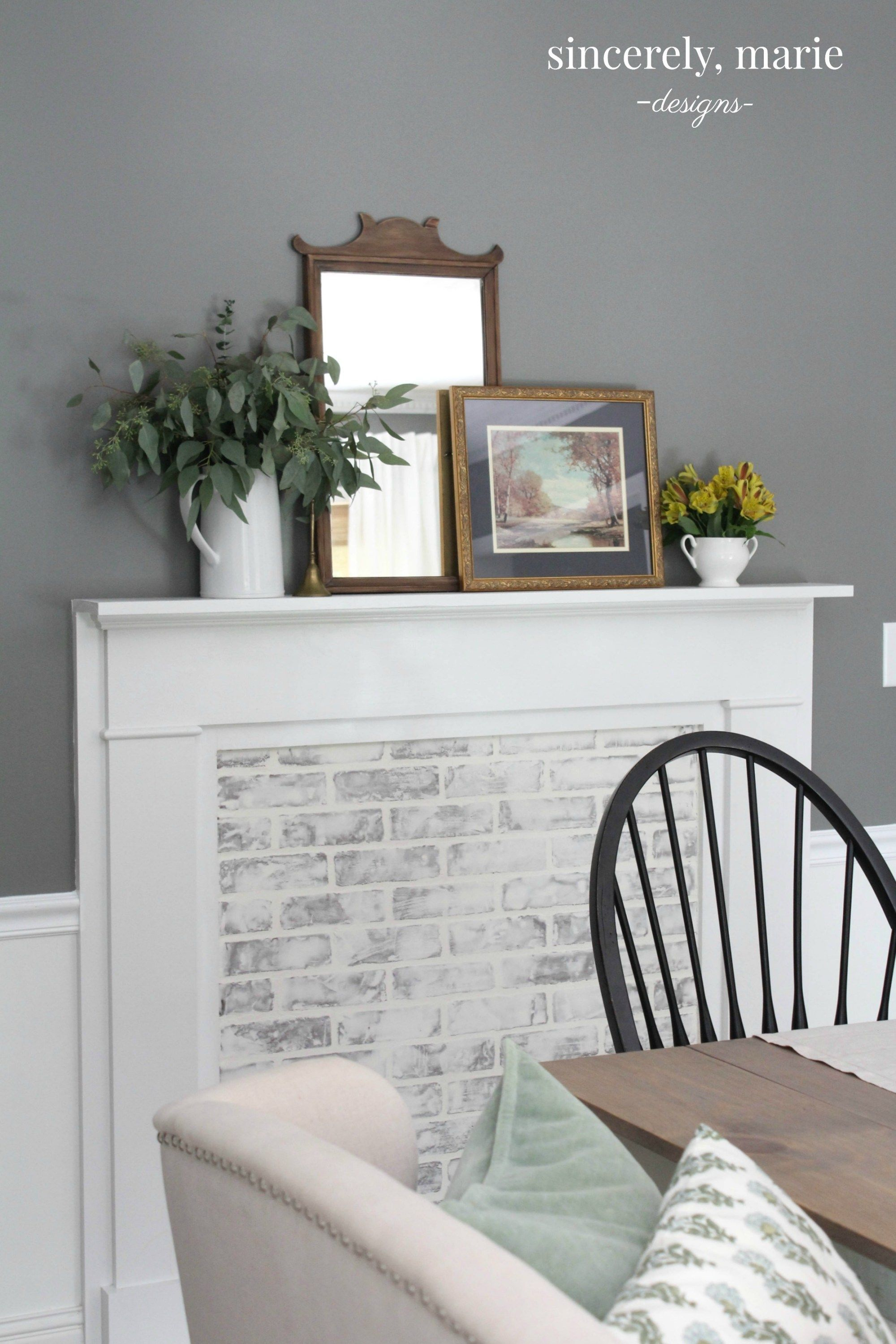 Diy faux fireplace u german smear fireplacesurround fireplace