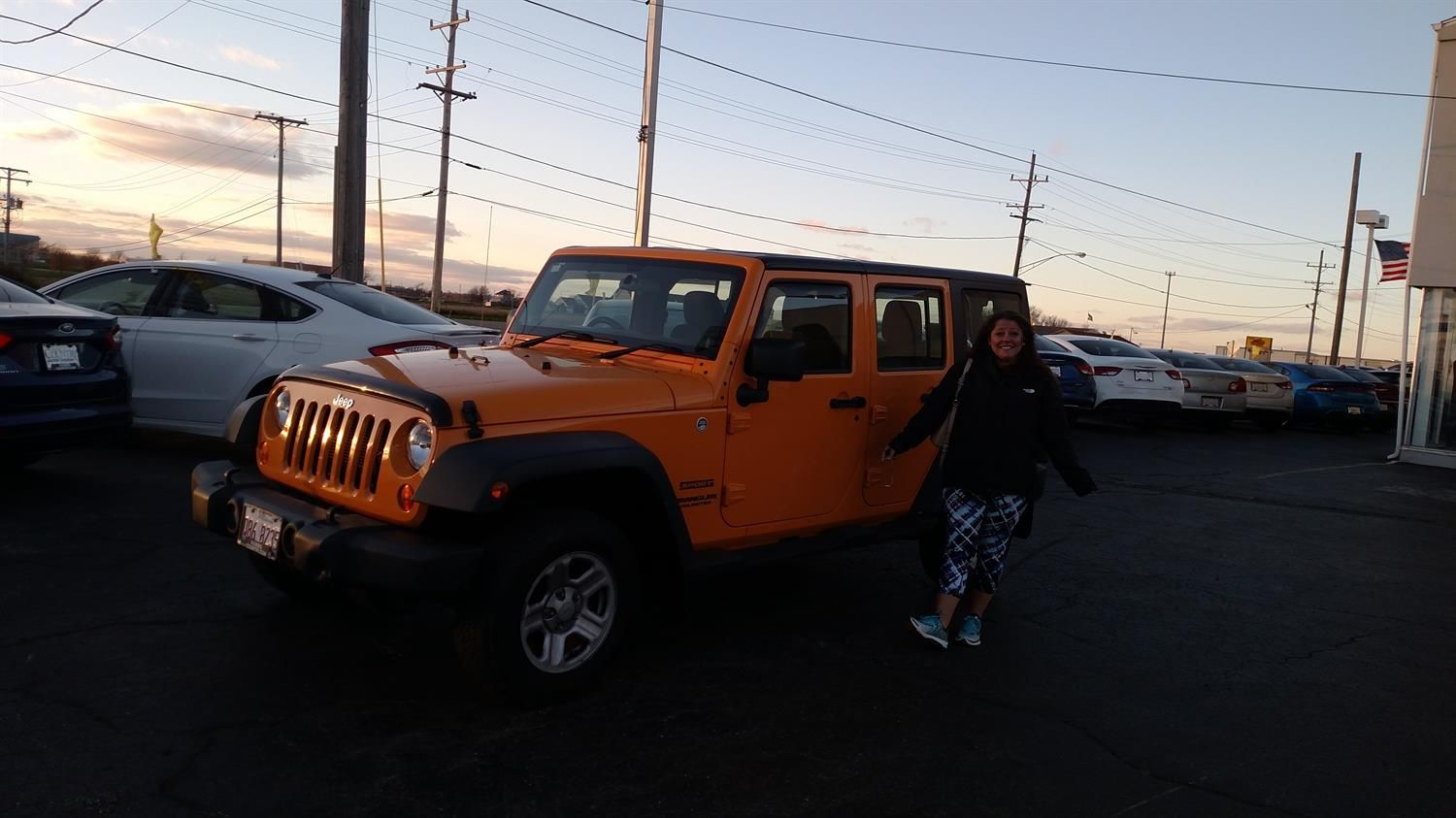 LYNNE's new 2012 Jeep Wrangler! Congratulations and best wishes from Kunes Country Auto Group of Sterling and Scott Bice.