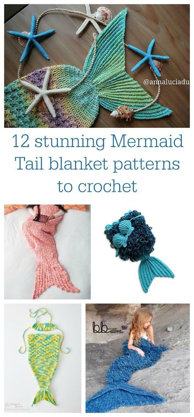 Stunning mermaid tail blanket patterns for babies, teens and adults ...