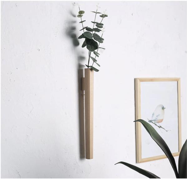 Handmade Japanese Minimalism Flower Wall Vase Wall Vase Wall Vase Decor Japanese Wall Decor