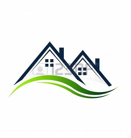 Houses Real Estate Real Estate Icons Roofing Logo Real Estate