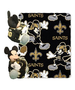 Look what I found on #zulily! New Orleans Saints Mickey Mouse Plush & Throw Blanket by Mickey Mouse #zulilyfinds