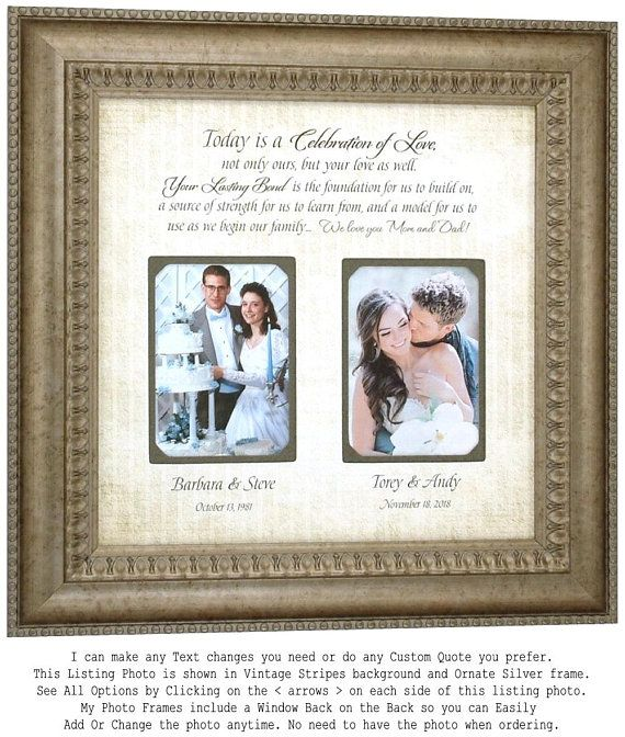 Parents wedding gift, Parents thank you Gift, Parents wedding gift ...