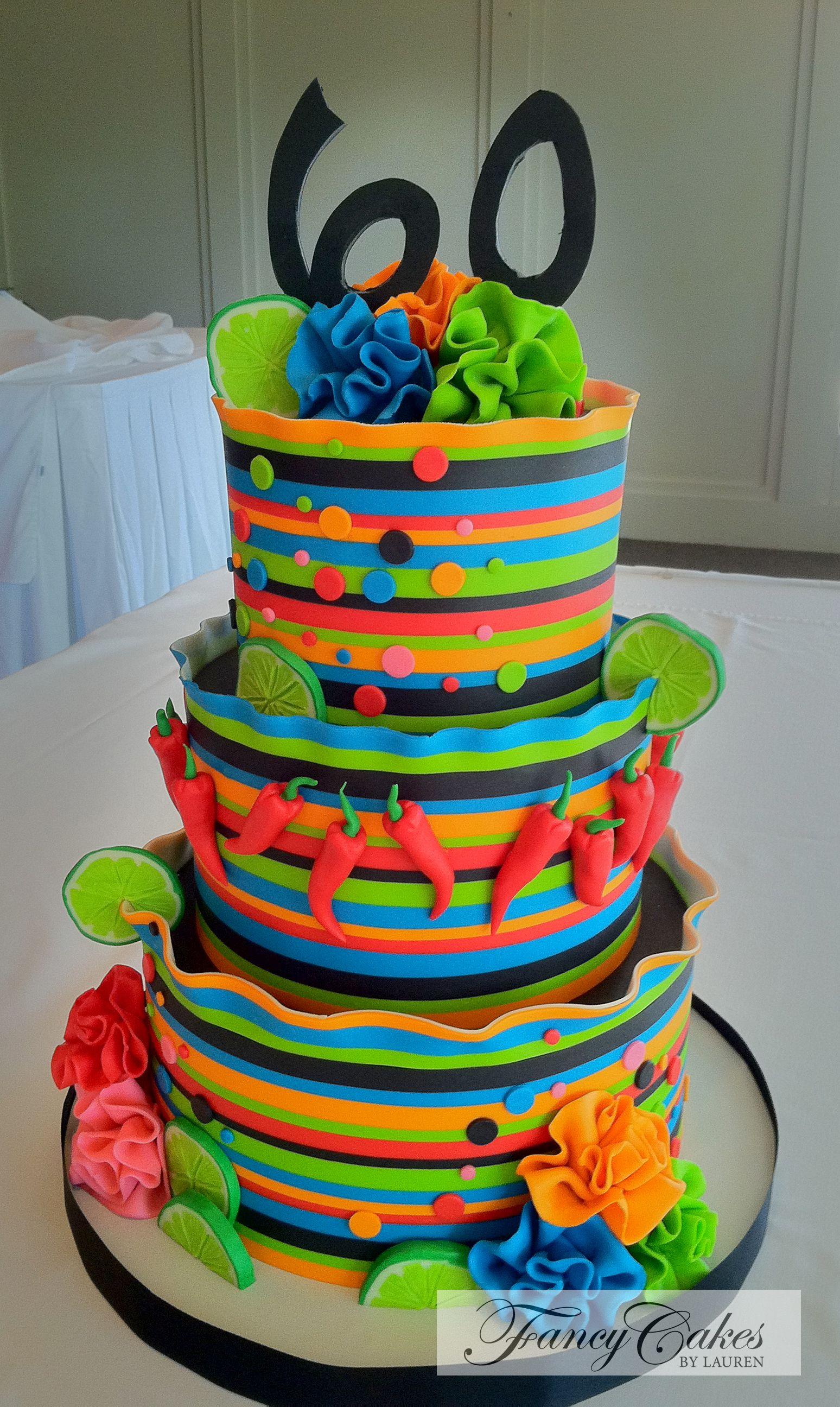 Cinco De Mayo Birthday Cake Fiesta Cake Party Cakes Fancy Cakes