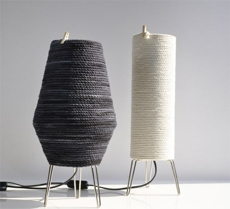 Table lamp from rope and plastic | lamps, mobiles & wind chimes ...