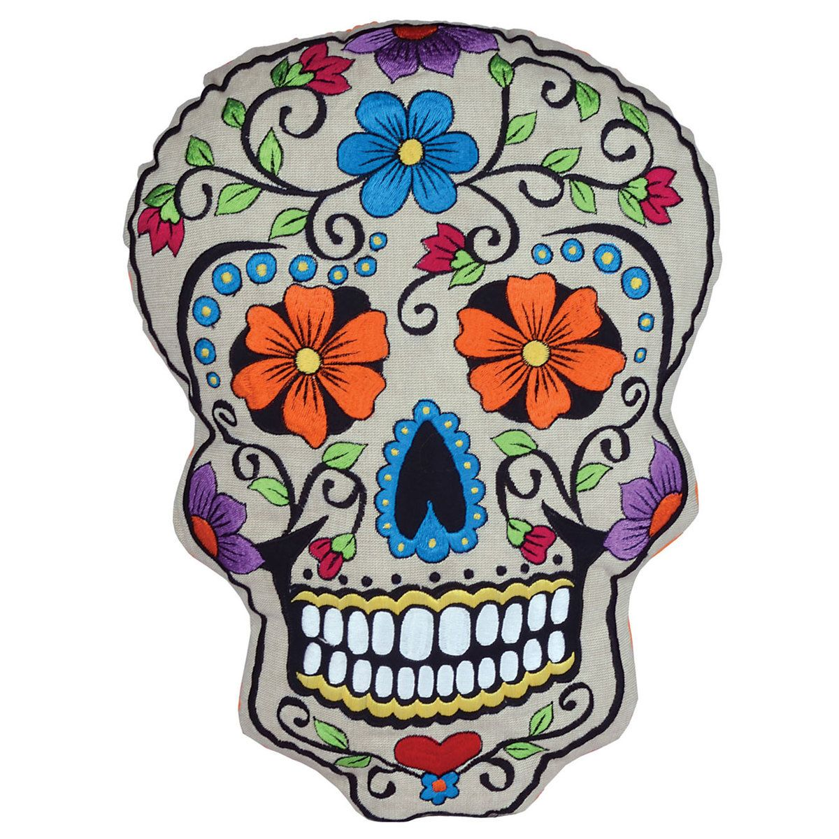 Dia De Los Muertos Cushion Ii Guy Gifts Skull Pillow