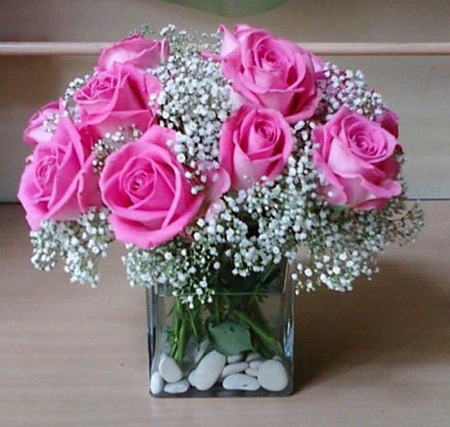 Toko Bunga Cinta Toko Bunga Jakarta Online Telp 021 41675773 Karangan Pink Rose Flower Beautiful Flowers Images Flower Arrangements