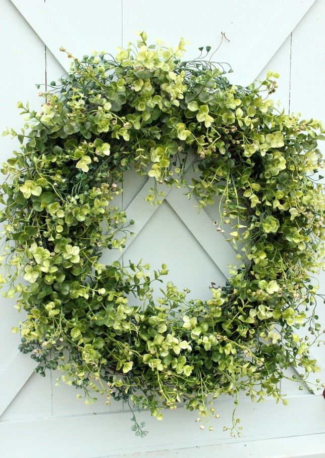 How To Make An Artificial Boxwood Wreath Daisymaebelle Boxwood Wreath Artificial Boxwood Wreath Spring Front Door Wreaths