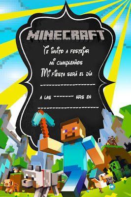 Tarjetas De Cumpleaños Para Imprimir Tarjeta Minecraft