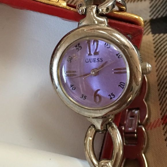GUESS WATCH Great condition..just needs battery..Sterling silver..can be wore as dressy or casual!! Guess Accessories Watches