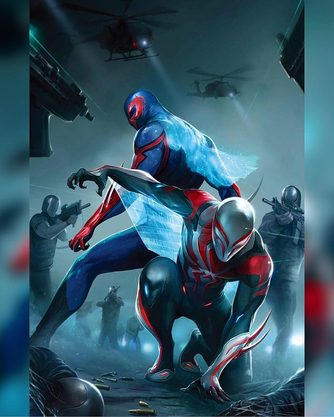 I love SpiderMan 2099 new costume over the old one