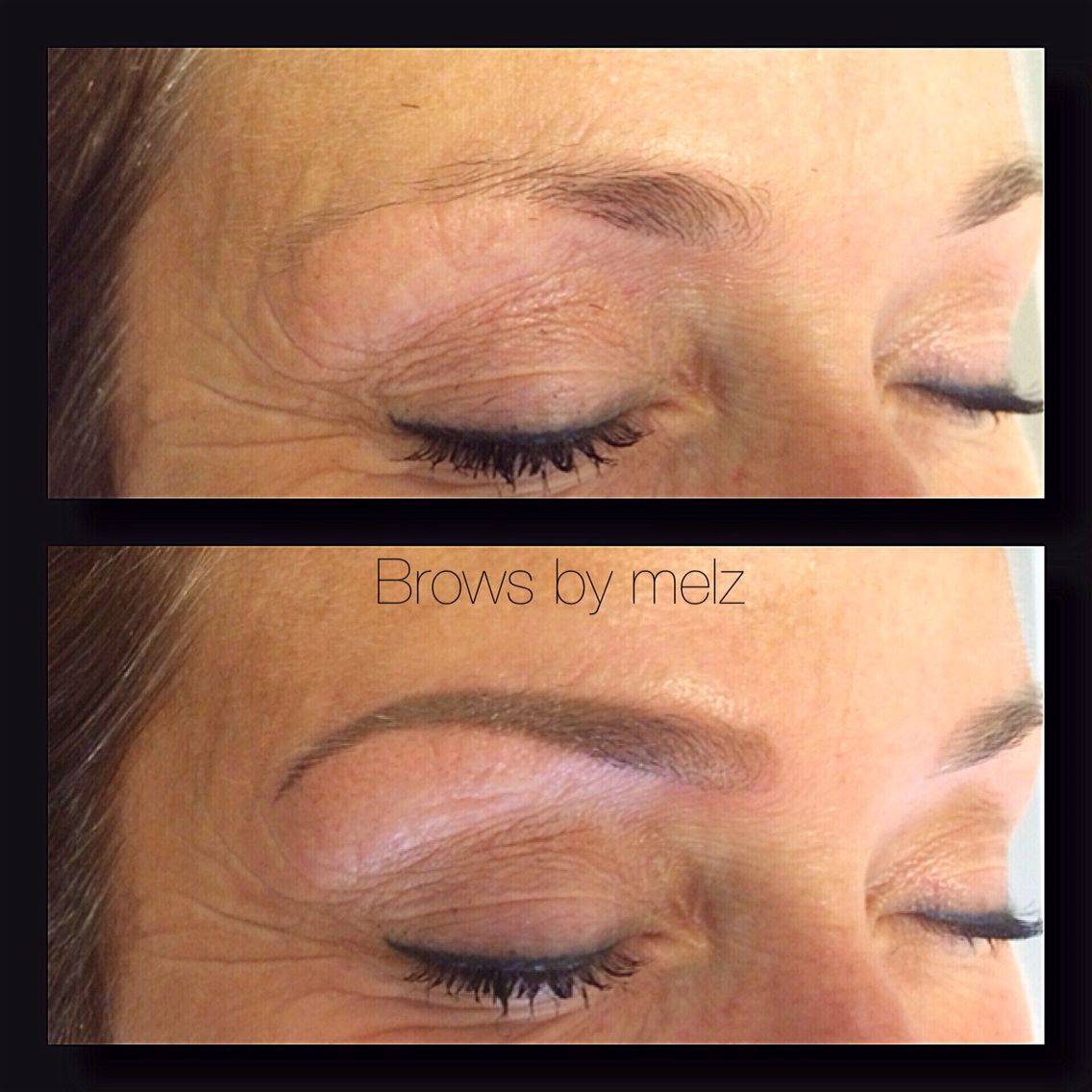 Cosmetic eyebrow tattoo browsbymelz