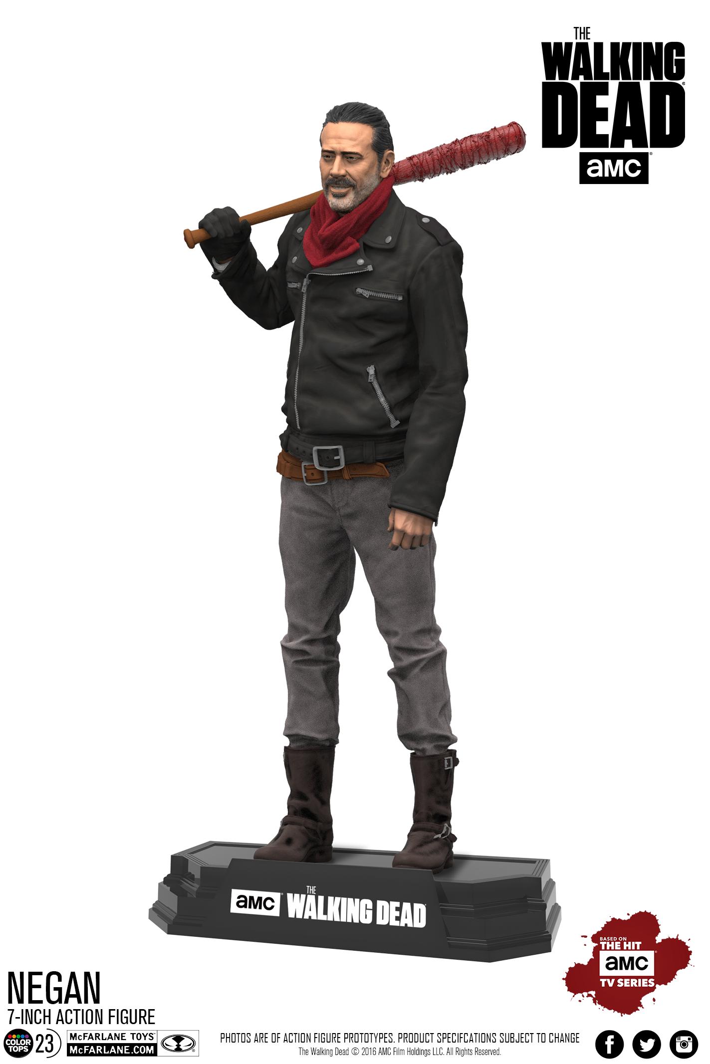 Negan Glenn McFarlane Toys-The Walking Dead Comic Series 5-Lot de 4