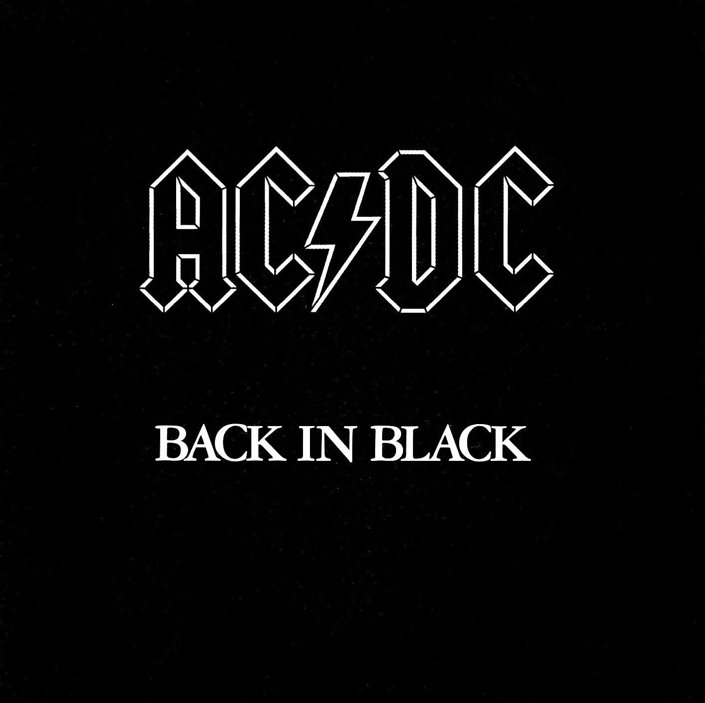 Ac Dc Back In Black Acdc Acdc Album Covers Back To Black