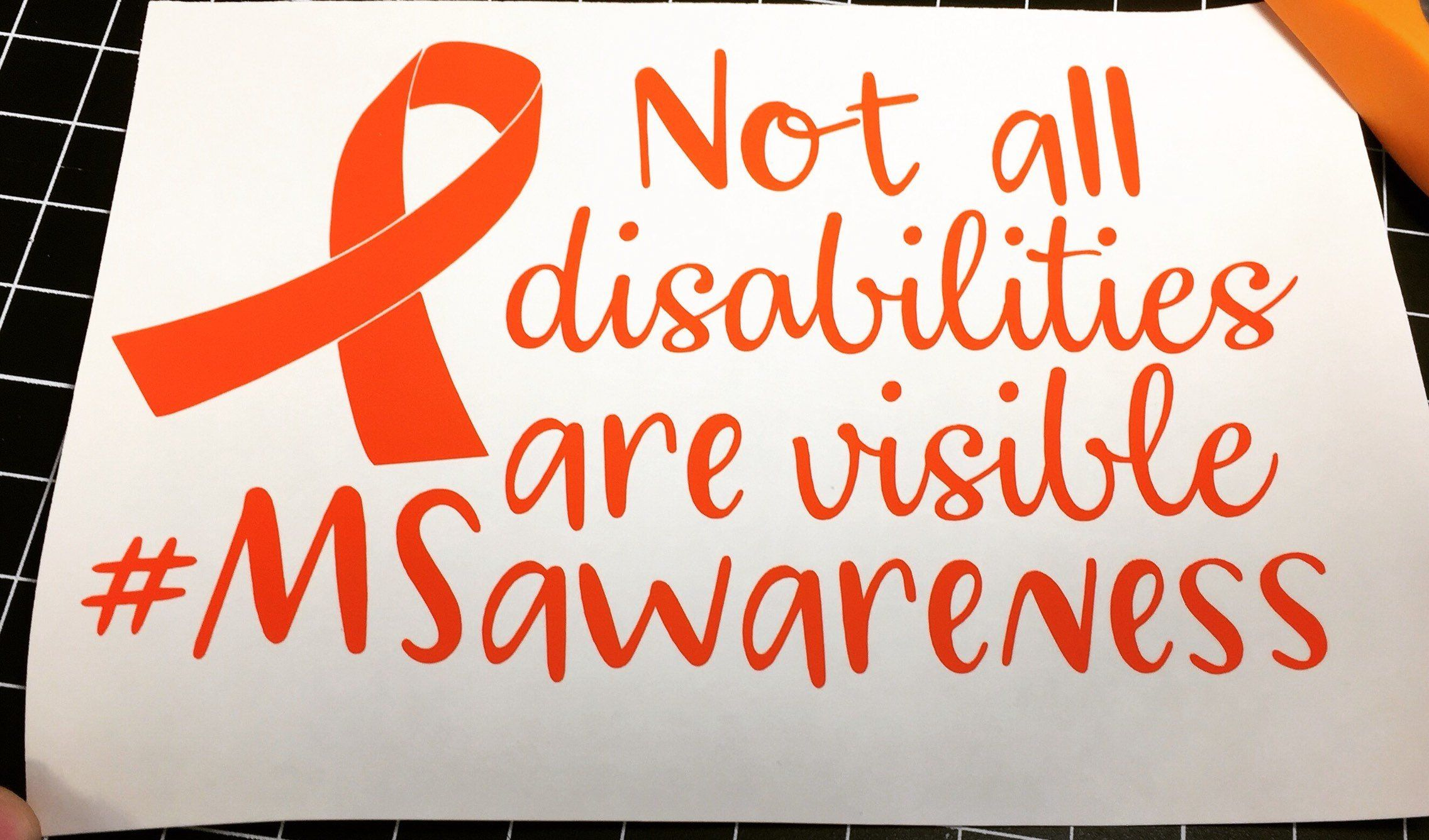 Ms Awareness Car Decals Not All Disabilities Are Visible Etsy Invisible Disability Multiple Sclerosis Ms Awareness [ 1336 x 2272 Pixel ]