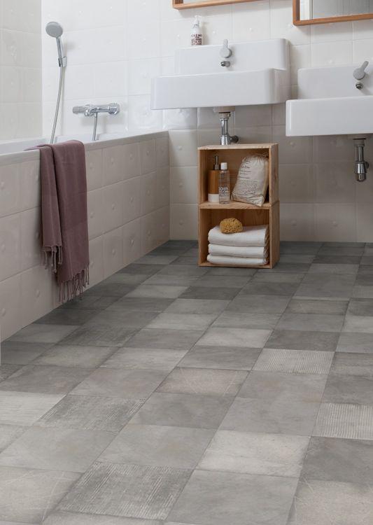 V trumsmatta gerflor gerbad arty gris sauna ideas for Parquet pvc clipsable gerflor