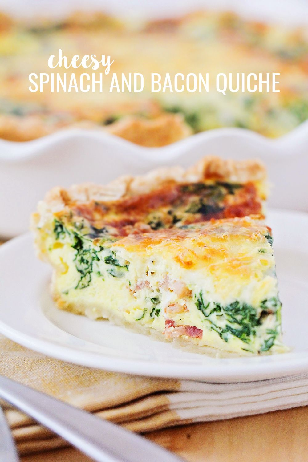 Spinach And Bacon Quiche In 2020 Bacon Quiche Bacon Quiche Recipe Spinach Quiche Recipes