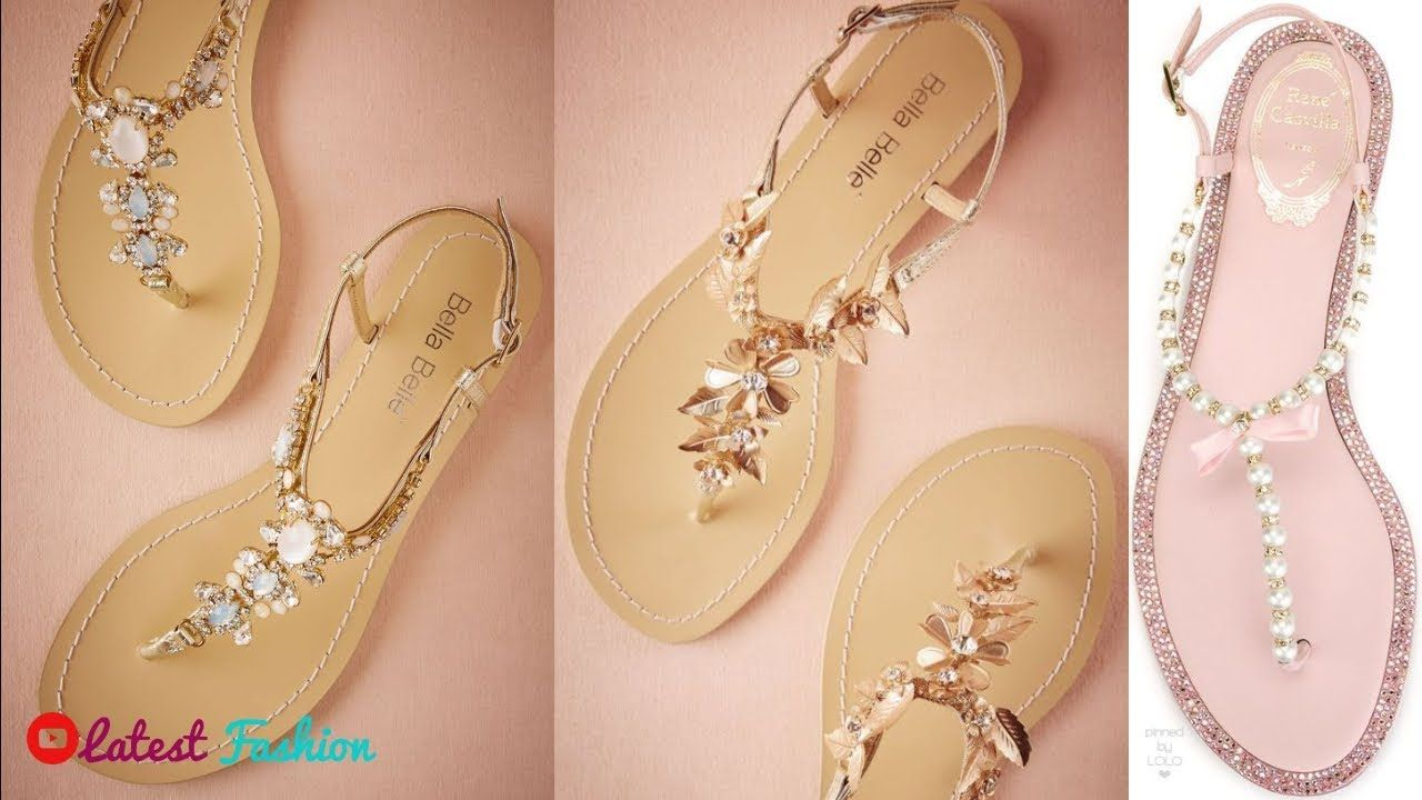 df3488c4bba Flat Sandals Designs For Girls