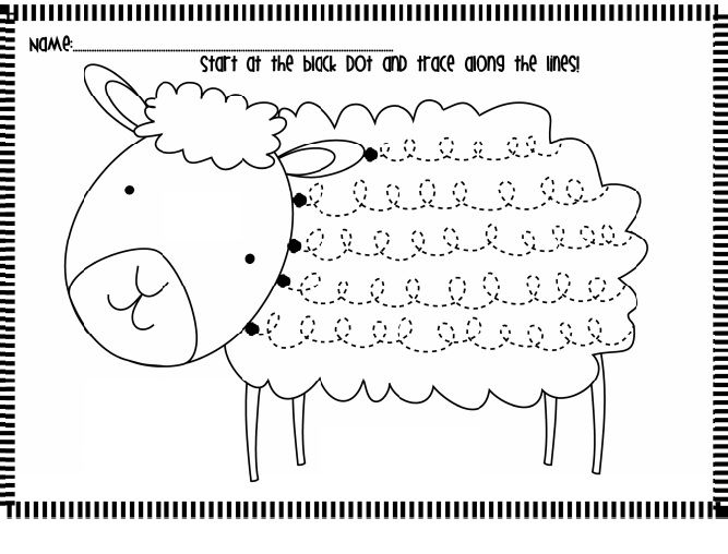 sheep trace worksheet nachspuren schwung bung pinterest schwung bungen und. Black Bedroom Furniture Sets. Home Design Ideas