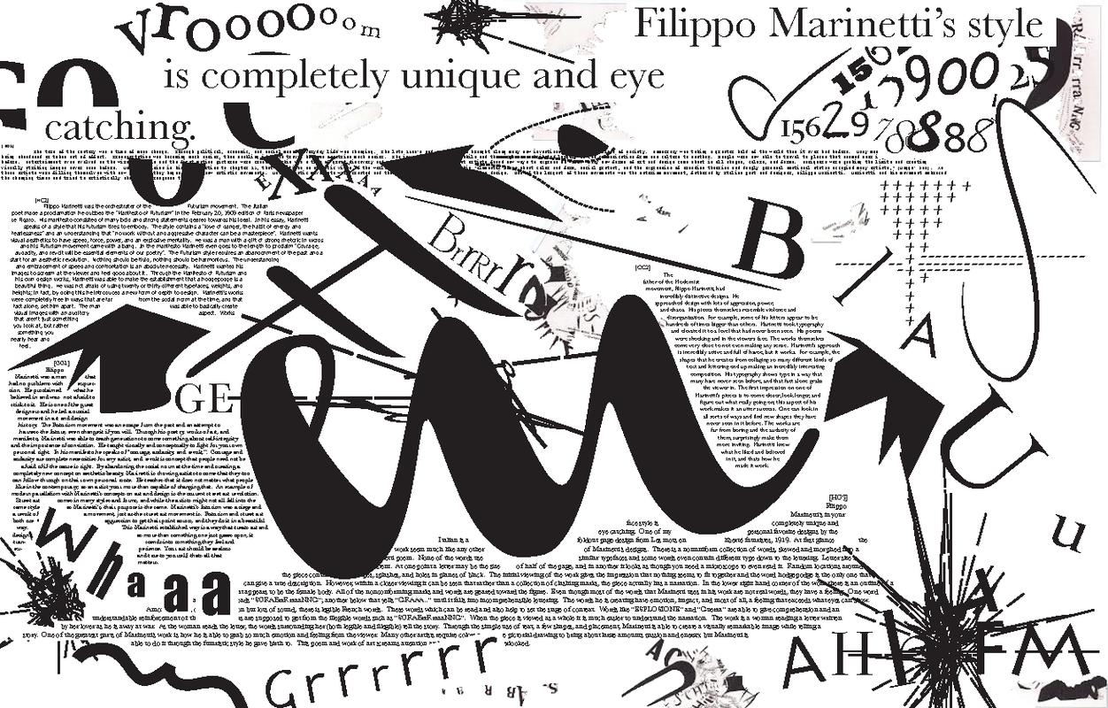 filippo marinetti typography - Google keresés