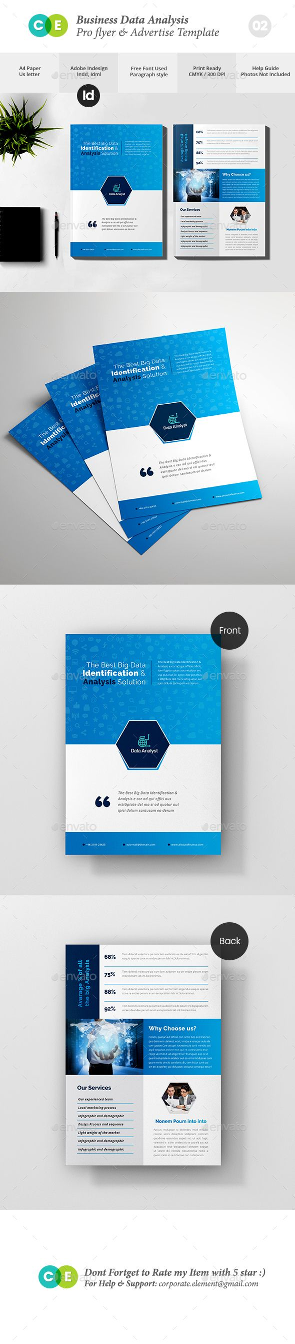 Pro Business Data Analysis Flyer V  Business Flyer Template