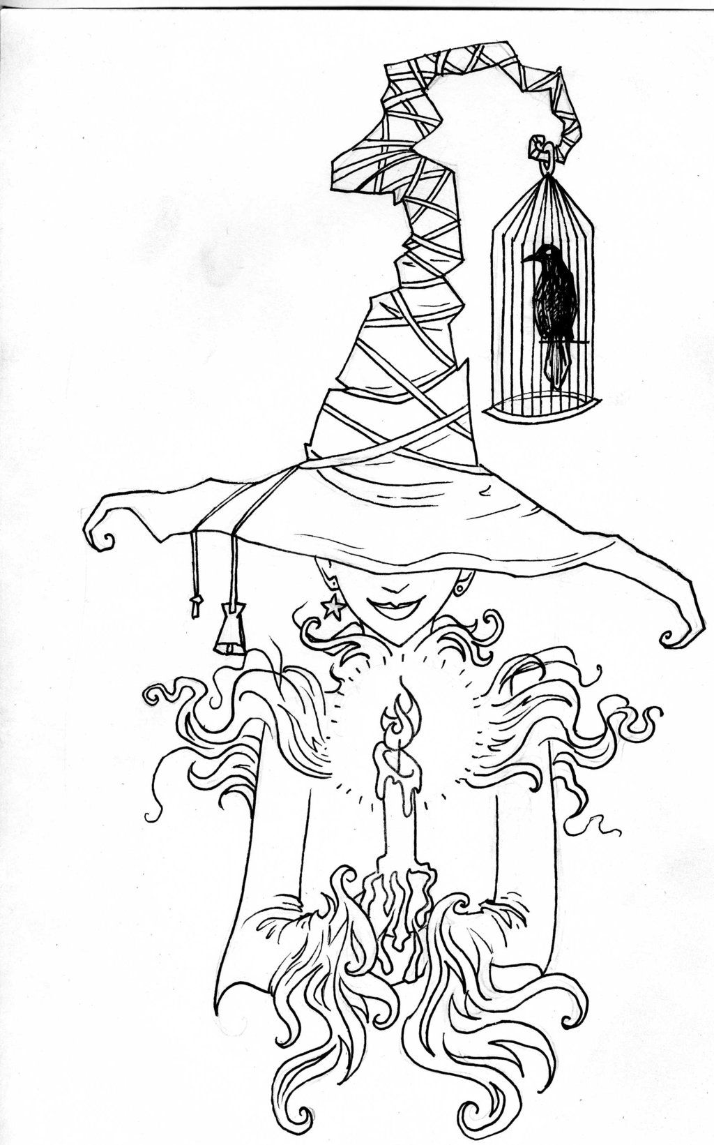 Pin by kim ellington on coloring pages in pinterest witches