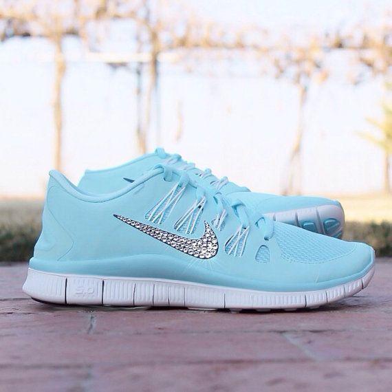 Nike Free Run 5.0 w/ Swarovski Rhinestones ICE by RoyalRhinestones, $159.99