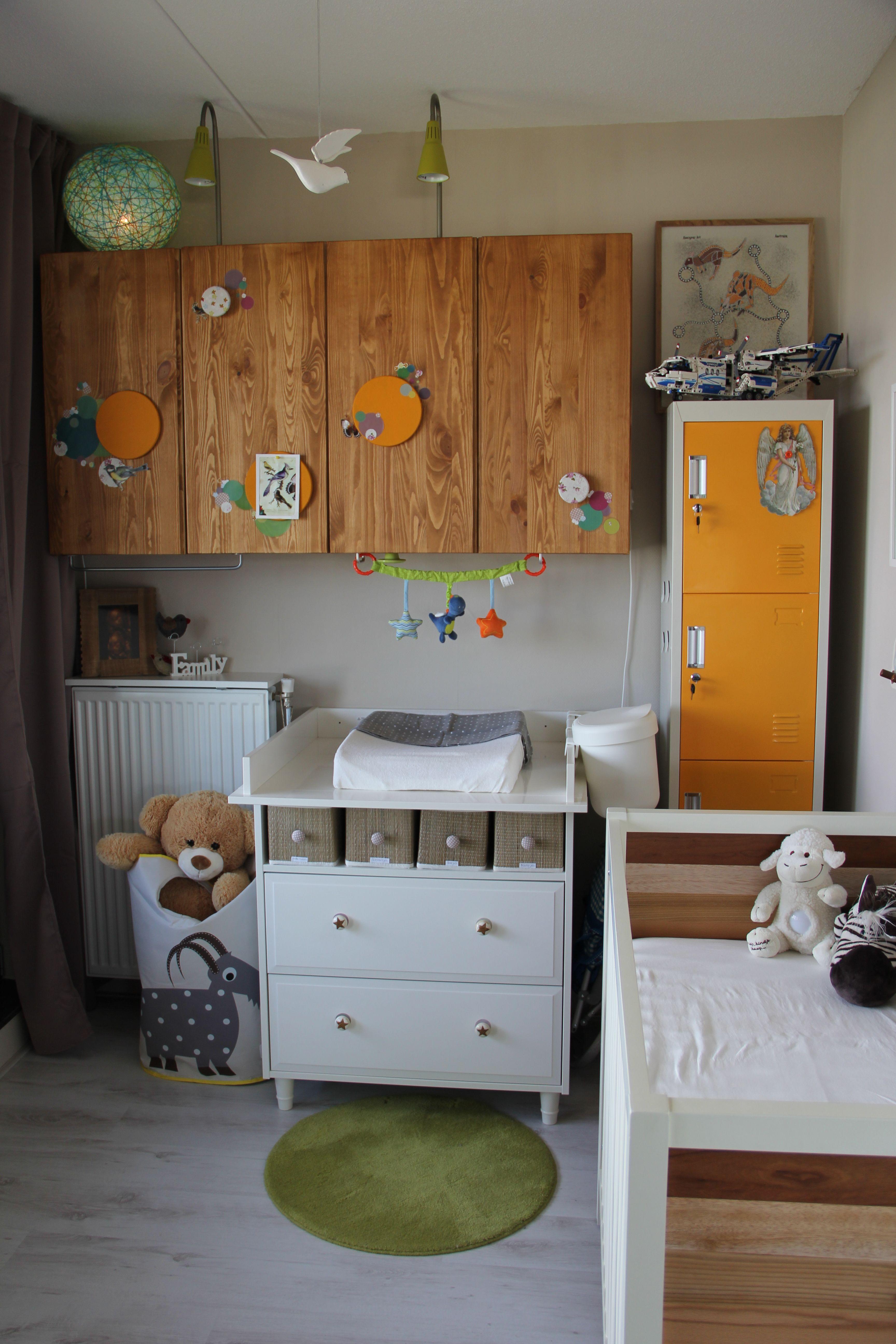 Small Nursery No Closet Needed In A Small Room Use Cabinets Van Ikea Ivar As An Alternative Ikea Ivar Used Cabinets Small Nurseries