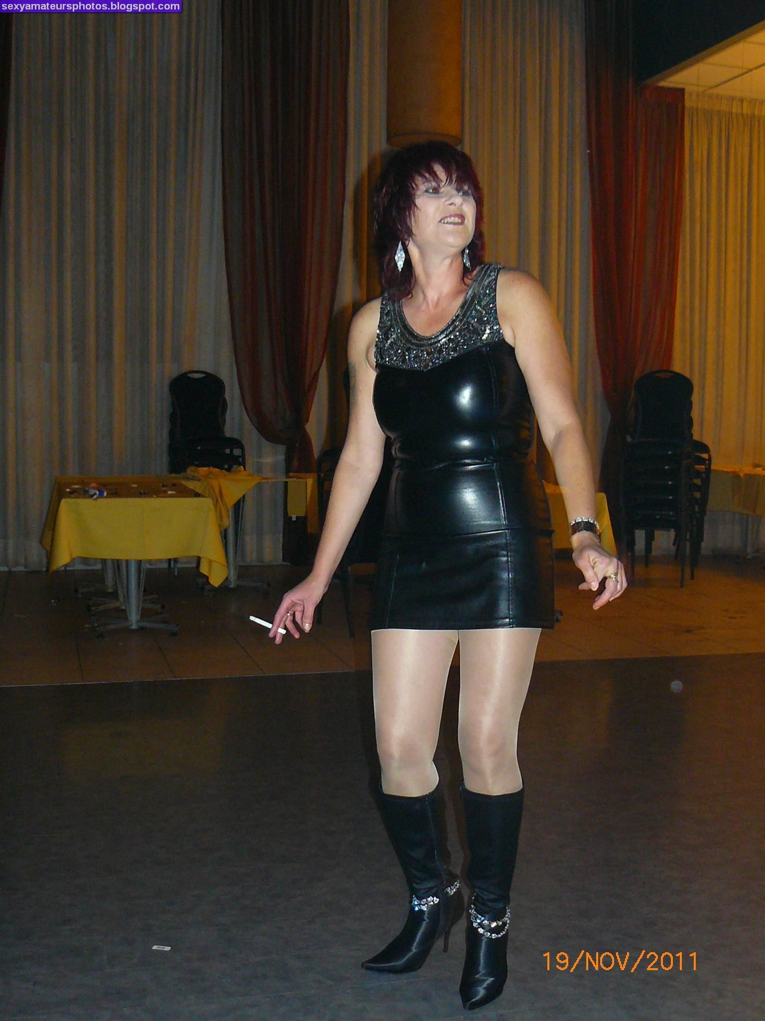 Milf in leather dress Matures Pinterest Sexy Leather and Porn