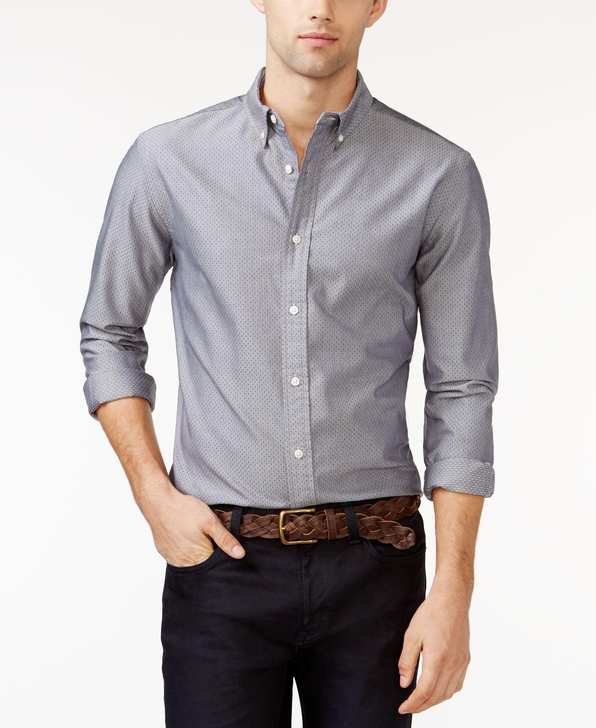 Tommy Hilfiger Dean Micro Dot Shirt Belts Tommy Hilfiger Shirts