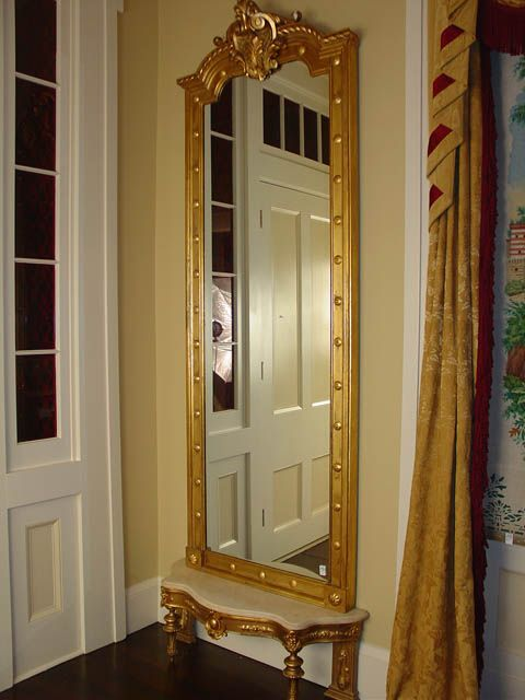 Gold, gilded, antique, pier mirror | Giant Fancy Mirrors ...