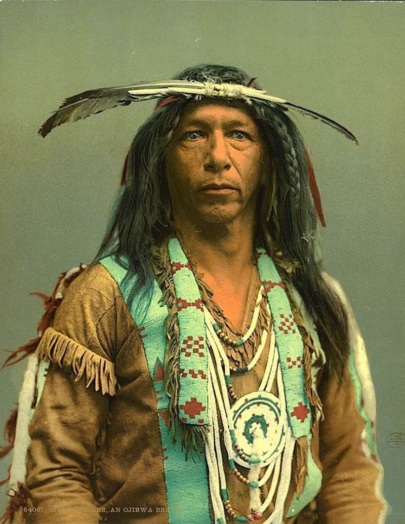14 rare color photos of native americans taken in the 19th
