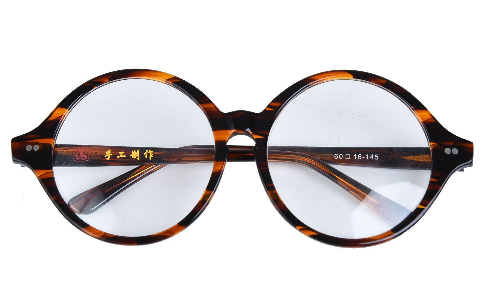 1d202f10f5af 40mm - 61mm HANDMADE Vintage Round Glasses Tortoise Optical Eyeglasses  Frames Rx