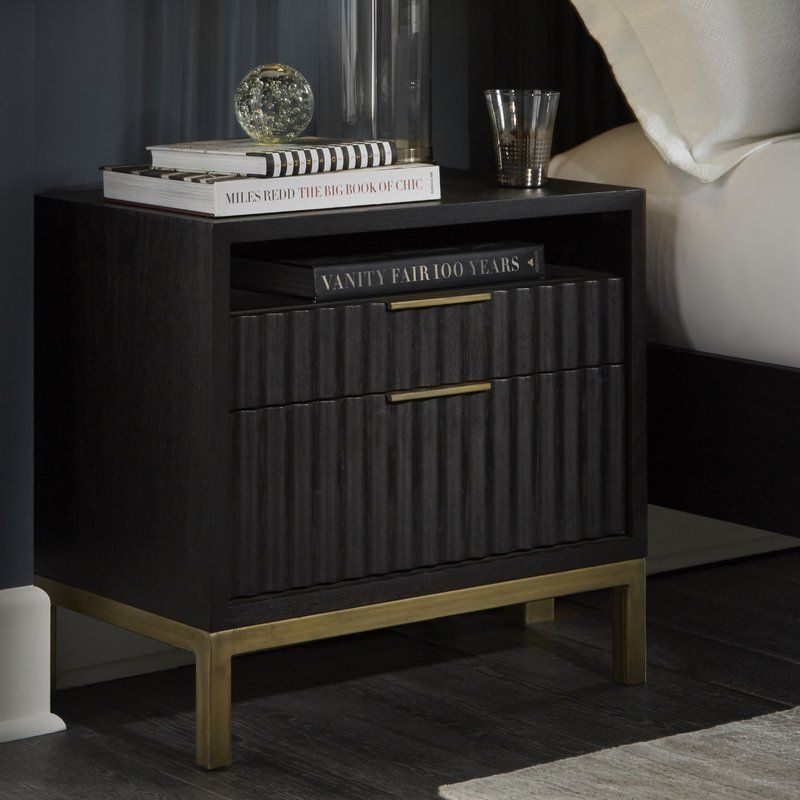 Best Holford 2 Drawer Nightstand With Images Furniture 400 x 300