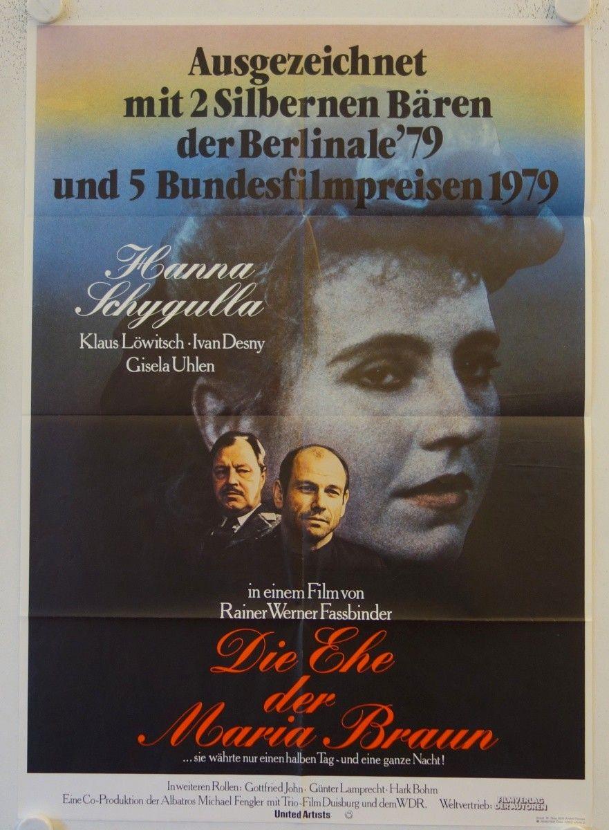 Unglaublich Hark Duisburg Sammlung Von The Marriage Of Maria Braun Original Release