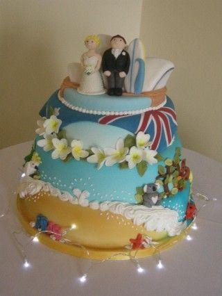 Australian wedding Cake