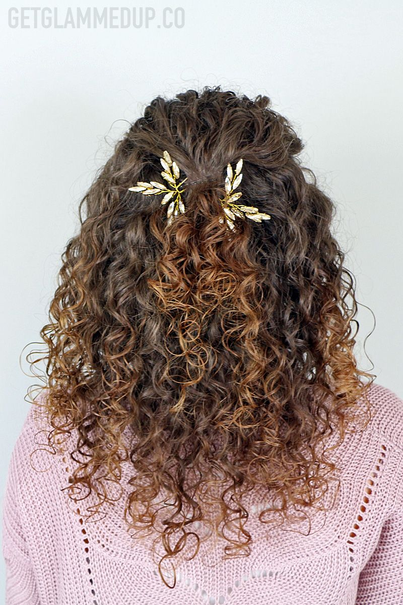 Simple Half Up Wedding Bridal Hairstyle For Naturally Curly Hair Formal H Curly Hair Styles Naturally Formal Hairstyles For Long Hair Natural Curls Hairstyles