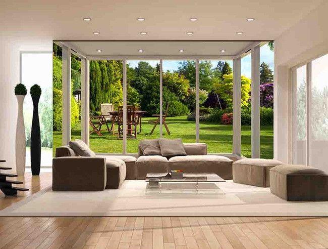 Paysage trompe l\'œil effet 3D - Jardin ensoleillé - Extension d ...